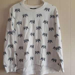Forever 21 elephant sweater long sleeve top medium